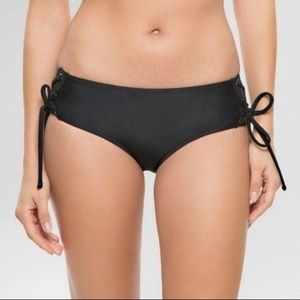 Cleobella black lace-up swim bottoms